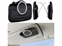 kit mains libres bluetooth autorisé en voiture avec pince pour pare-soleil callstel