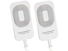 2 patchs compatibles Qi pour iPhone 5C, 5S, SE, 6, 6S/Plus, 7, 7S/plus