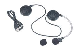 intercom bluetooth sans fil pour casque de moto avec 2 haut-parleurs callstel