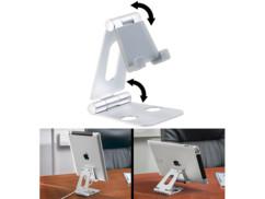 Support orientable ultraplat pour smartphone / tablette 25,4cm - Argent