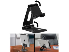 Support orientable ultraplat pour smartphone / tablette 25,4 cm - Noir