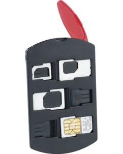 Support pour 6 cartes SIM avec 3 adaptateurs