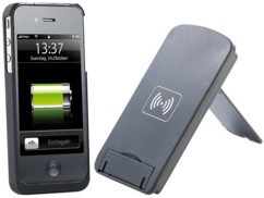 Support smartphone compatible Qi avec coque iPhone 4/4S