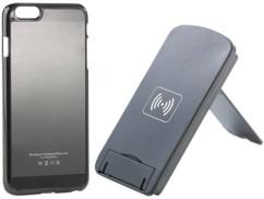Support smartphone à induction avec coque chargeur Qi pour iPhone 6 Plus