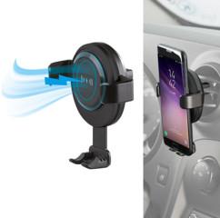 support smartphone pour grille de ventilation avec chargeur sans fil Qi a induction integré pour iphone 8 x galaxy s8 s9