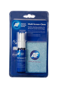 spray nettoyant multi ecran avec chiffon microfibre af multi screen clene