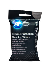 pack de 40 lingettes de nettoyage pour protections auditives casque audio écouteurs AD Hearing protection cleaning wipes