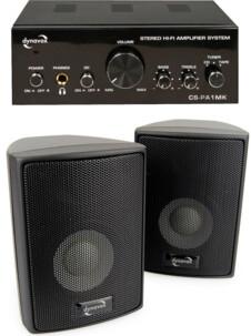 Amplificateur stéréo + kit d'enceintes Dynavox CS-PA1 - Noir