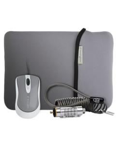 Kit Netbook : câble + housse 9'' + souris USB