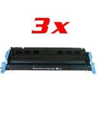 Lot de 3 toners compatibles Q6001A/EP707C - cyan