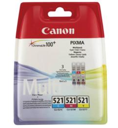 Pack cartouches originales Canon CLI521 - Couleur