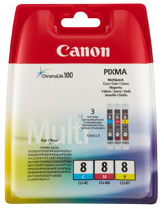 Pack cartouches originales Canon ''CLI8'' - couleur