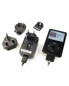 Chargeur secteur international avec connecteur dock pour iPhone / iPod