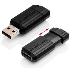 Clé USB Verbatim rétractable noir - 16 Go