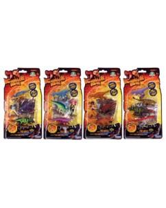 Pack 4 Figurines ''Dinosaur King''