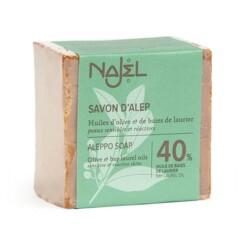Savon d'Alep avec 40% d'huile de baies de laurier.