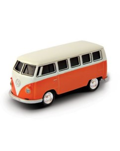 Clé USB aspect Volkswagen Van 1962 orange - 16 Go