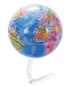 Globe terrestre rotatif