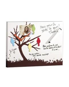 Horloge murale aimantée mémo arbre