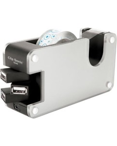 Hub 4 ports USB 2.0 - dévidoir ruban adhésif