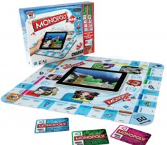 jeu de société monopoly zapped avec cartes magnétique et application ipad pour jeu interactif