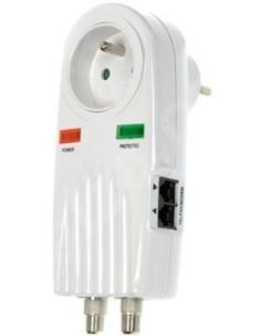 Adaptateur parafoudre pour prise satellite-téléphone-réseau