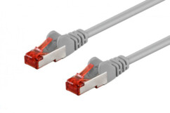 Câble réseau RJ45 Cat. 6 S/FTP Gris - 0,40m