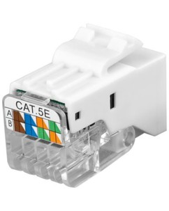 embase rj45 cat 5e utp snap in blanc