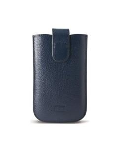 Housse en cuir véritable noir pour iPhone 5 / 5S / SE