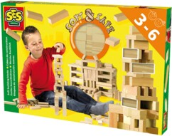 Jeu de construction avec cubes en mousse