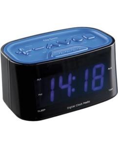 Radio-Réveil grand affichage ClipSonic - bleu