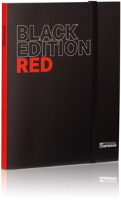 Bloc-notes A5 ''My Personal Compenion'' - ''Black Edition'' Red