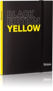 Bloc-notes A5 ''My Personal Compenion'' - ''Black Edition'' Yellow
