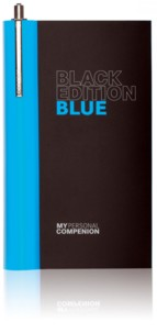 Carnet A7 ''My Personal Compenion'' - ''Black Edition'' Blue