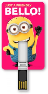 Clé USB 8 Go Minion, format carte - Just a friendly Bello !
