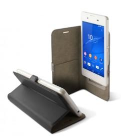 Étui universel folio pour smartphone avec slide - jusqu'à 5,5'' - Noir