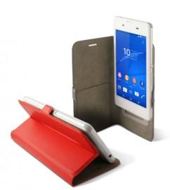 Étui universel folio pour smartphone avec slide - jusqu'à 5'' - Rouge