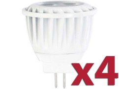 Lot de 4 spots à LED GU4 High Power - Blanc chaud