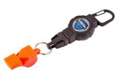 Mousqueton avec câble rétractable et sifflet FOX40