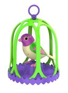 Oiseau électronique digital DigiBird avec sa cage