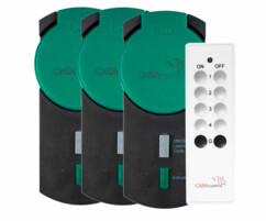 Pack de 3 prises wifi avec télécommande pour Smart wifi - Extérieur