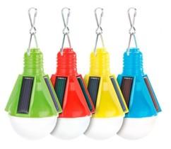 Pack de 4 lampes festives solaire ''ampoule'' - 4 couleurs