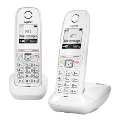 Télephones sans fil Gigaset AS405 Duo - Blanc