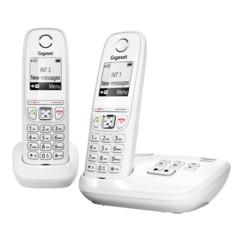 Téléphones sans fil Gigaset AS405A Duo avec répondeur - Blanc