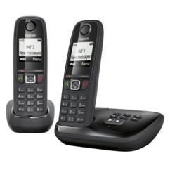Téléphones sans fil Gigaset AS405A Duo avec répondeur - Noir