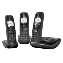 Téléphones sans fil Gigaset AS405A Trio avec répondeur - Noir