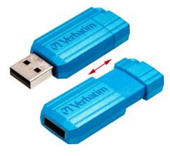 Verbatim clé USB ''Pinstripe'' 32 Go - Bleu