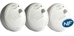 3 détecteurs avertisseurs autonomes de fumée (DAAF) certifiés NF - Symex SYM3200