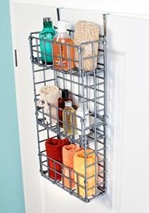 organiseur en métal pour ranger produits de ménage dans armoire