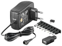 adaptateur secteur éco 1,5A pour ports cylindre et USB goobay